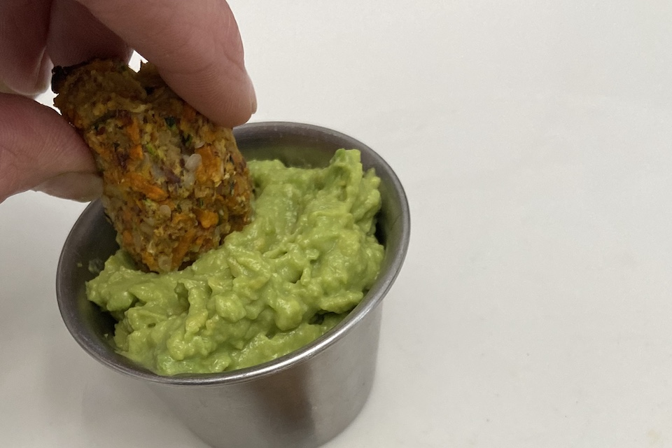 Veggie Tater Tots with Avocado Dipping Sauce